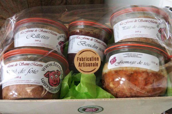 Terrines-plats-de-la-ferme-de-Saint-Martin-Marne-porc-terroir-local-artisanal